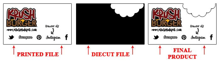 Custom shaped business cards printing services printshaq foil embossed business card setupg reheart Images